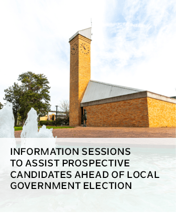 Information sessions to assist prospective candidates ahead of local government election
