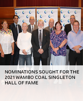 Nominations sought for the 2021 Wambo Coal Singleton Hall of Fame