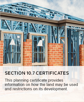 Section 10.7 certificates