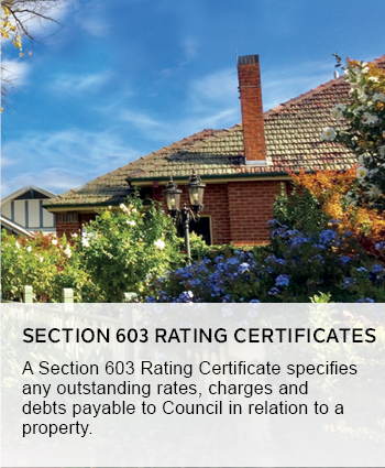 Section 603 rating certificates
