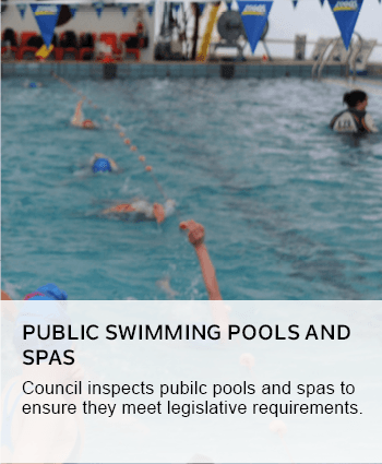 Public swimming pools and spas