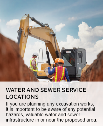 Water and sewer service locations