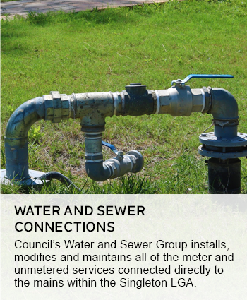 water and sewer connections