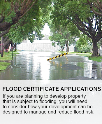 flood certificate applications