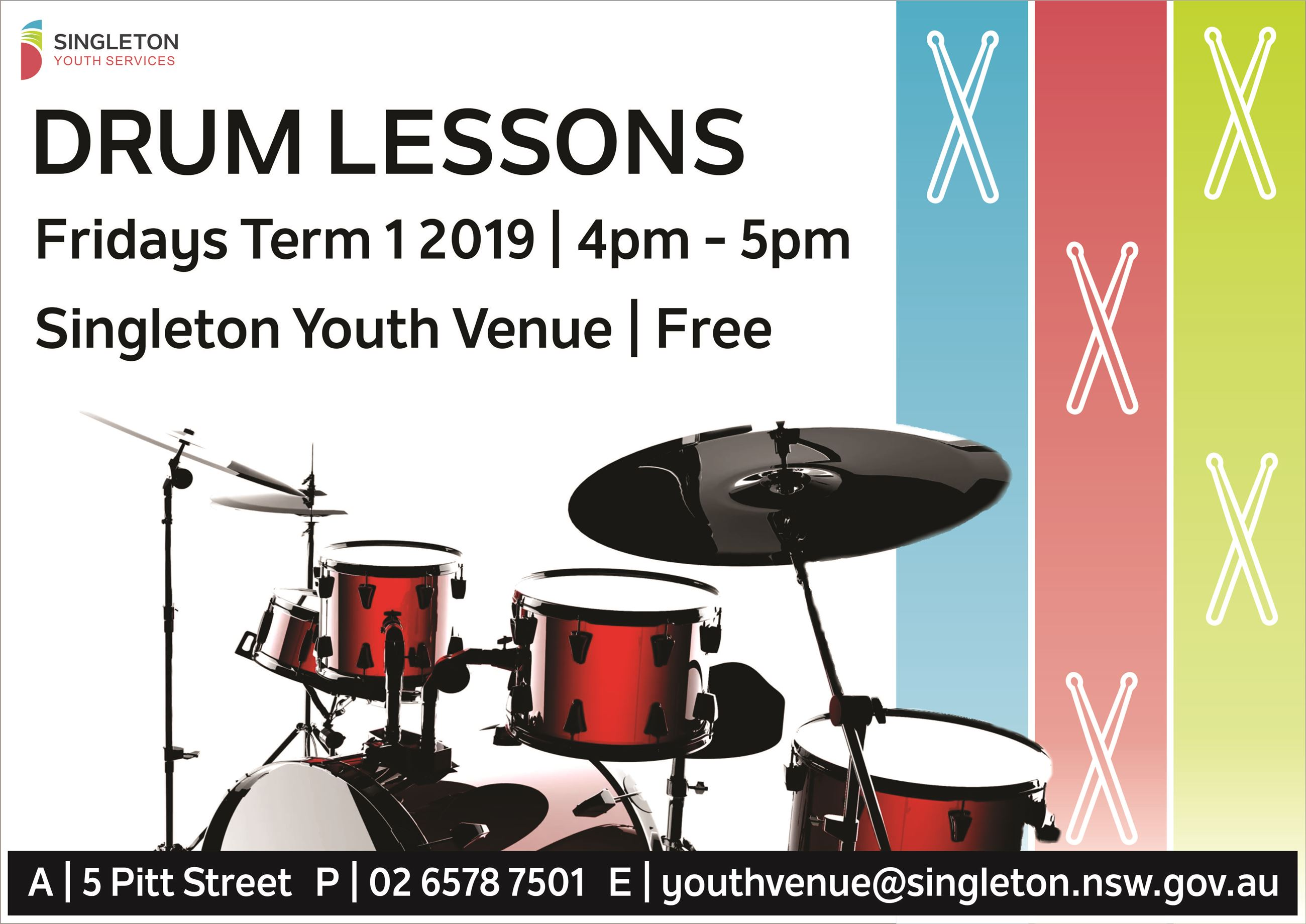 Drum Lessons Term 1 2019  -Flyer
