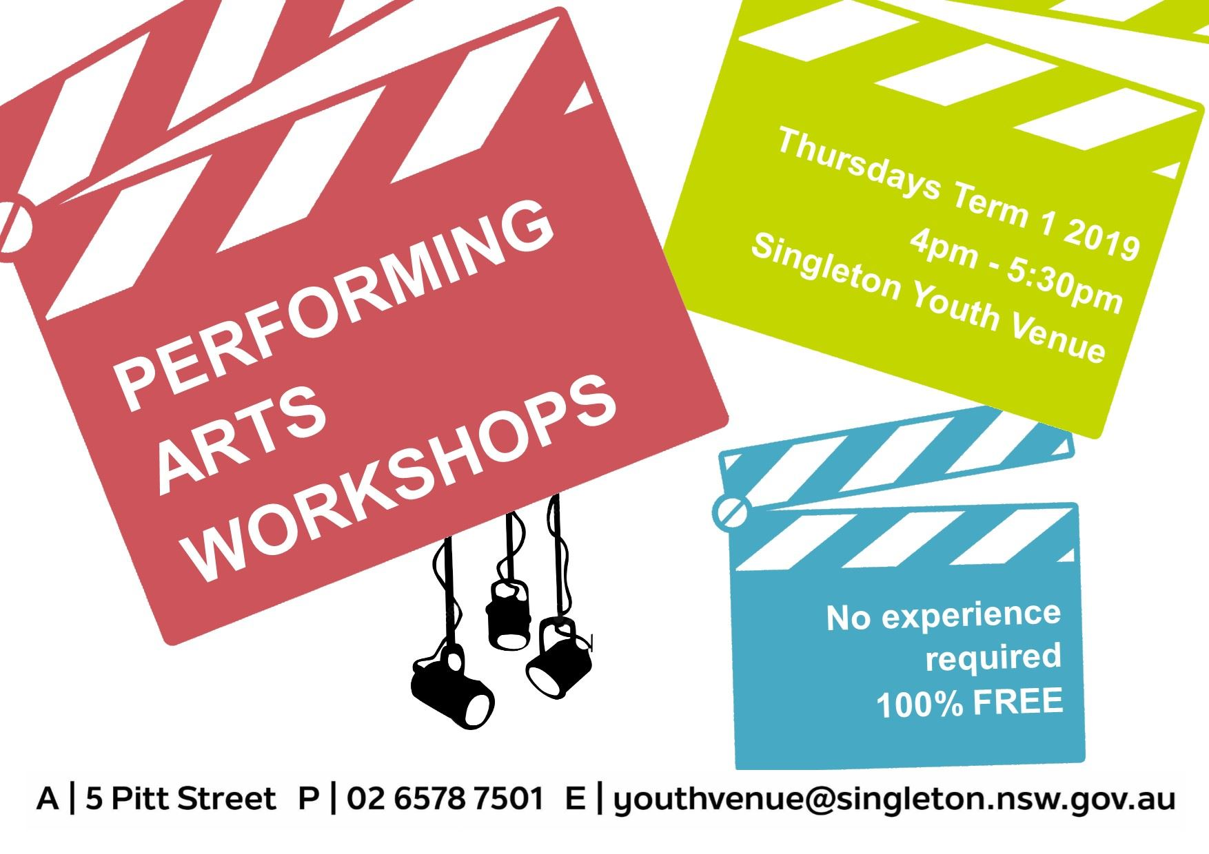 Performing Arts Workshop - 2019 Term 1 Flier - Youth Services (v3)