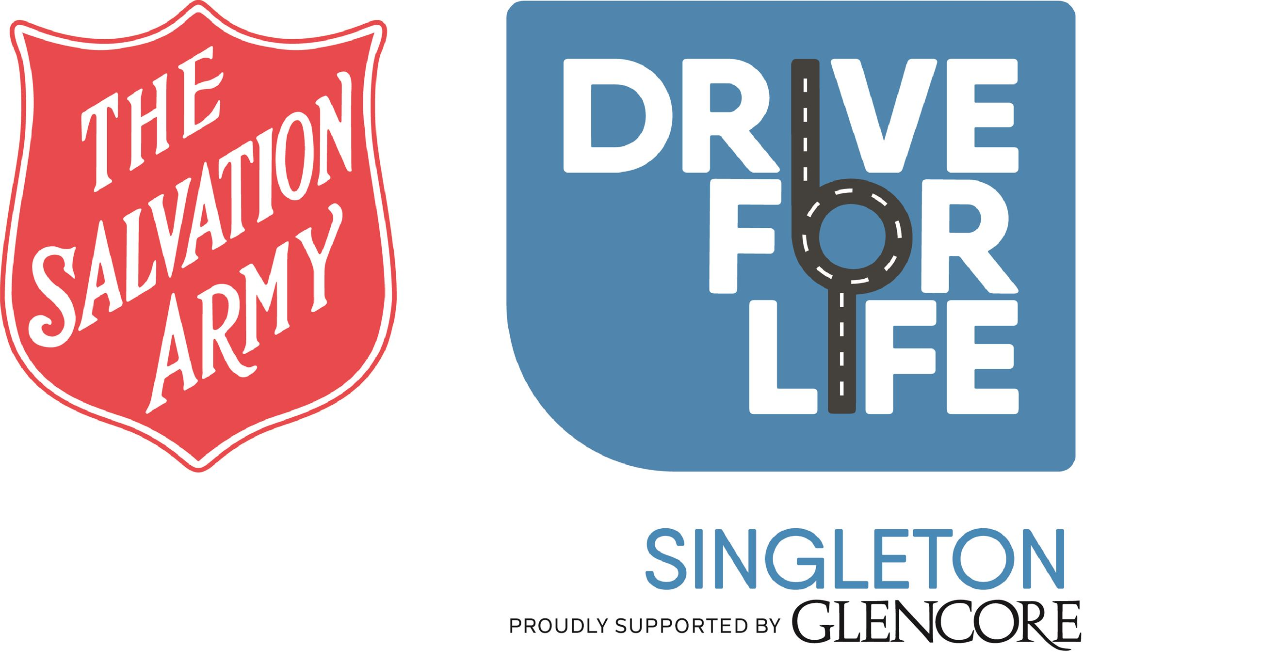 Salvation Army and Drive For Life - Proudly supported by Glencore